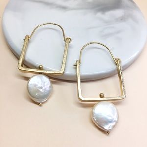 NWT Anthropologie pearl earrings